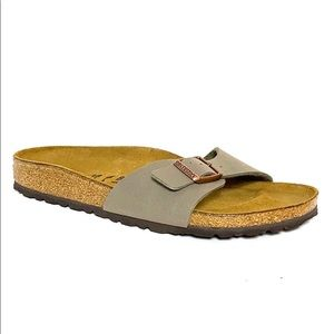 Birkenstock Madrid Tan Birko Flor Slide Sandals 7